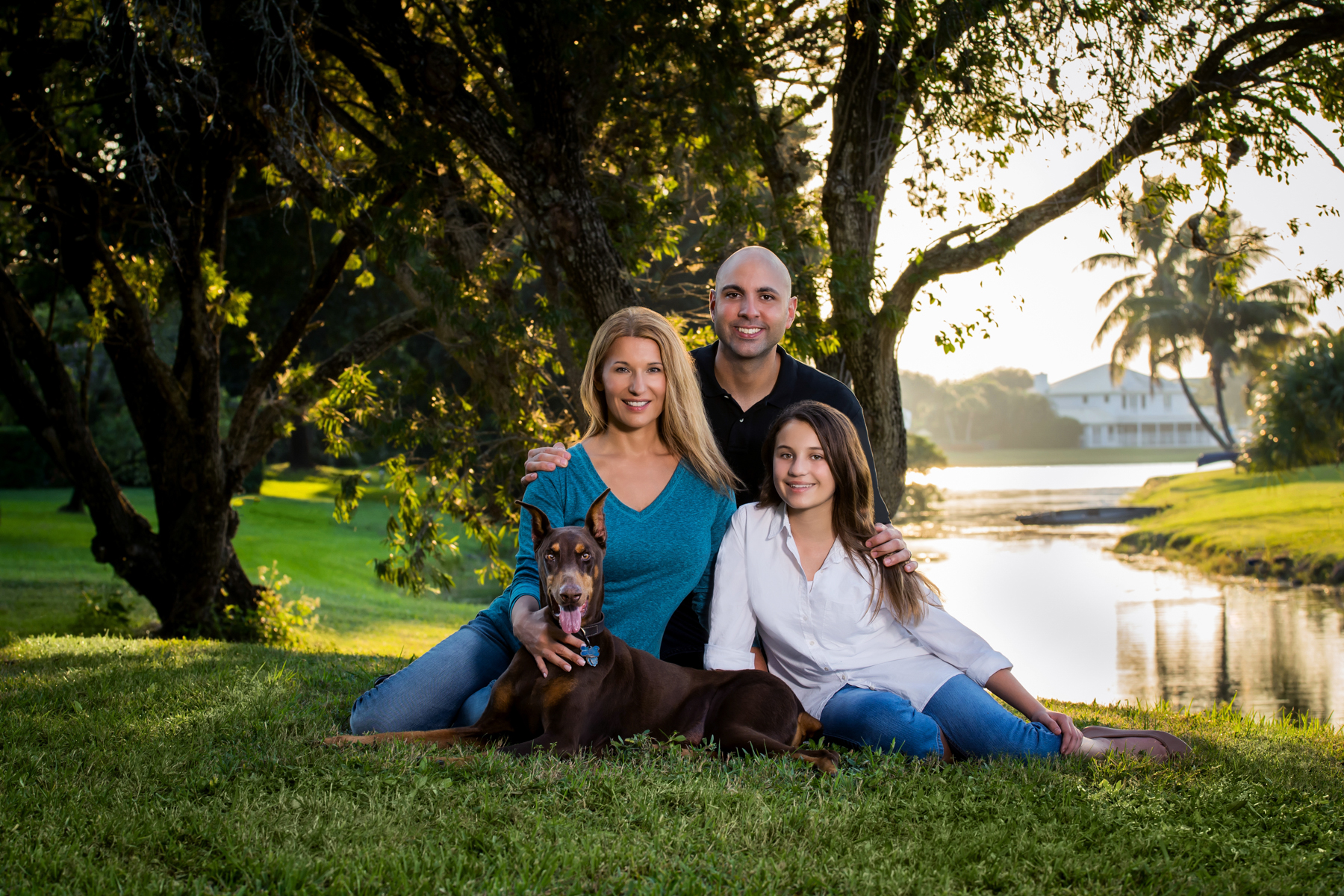 Family portrait session in Royal Palm Beach Gardens, FL.
