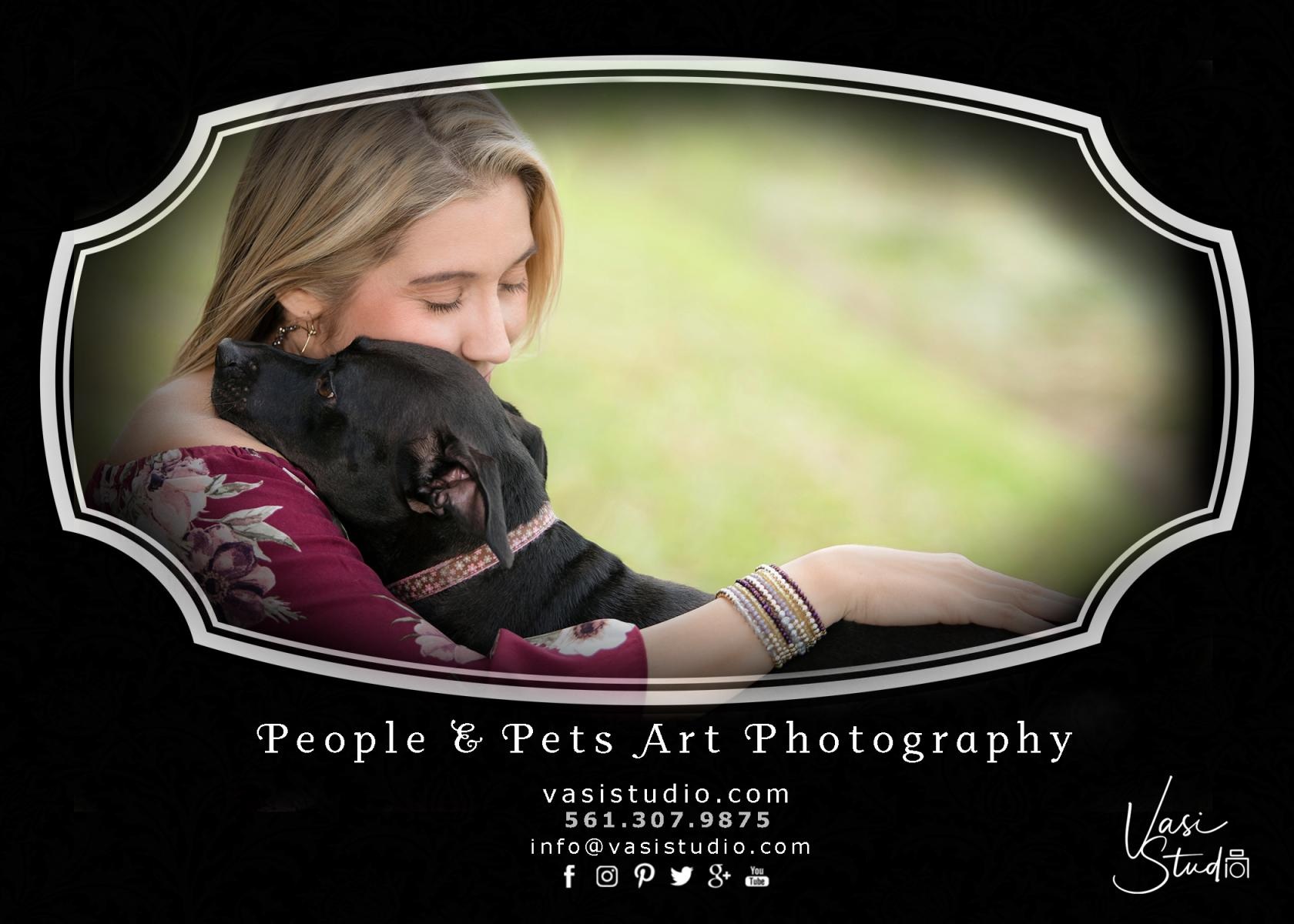 Pet owner and dogs photograph Palm Beach Gardens, FL