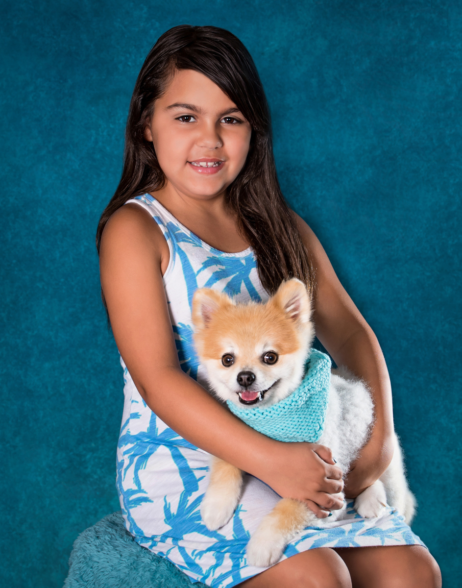 Custom sessions in studio for your child and pet. Call us today at (561) 307-9875 )
