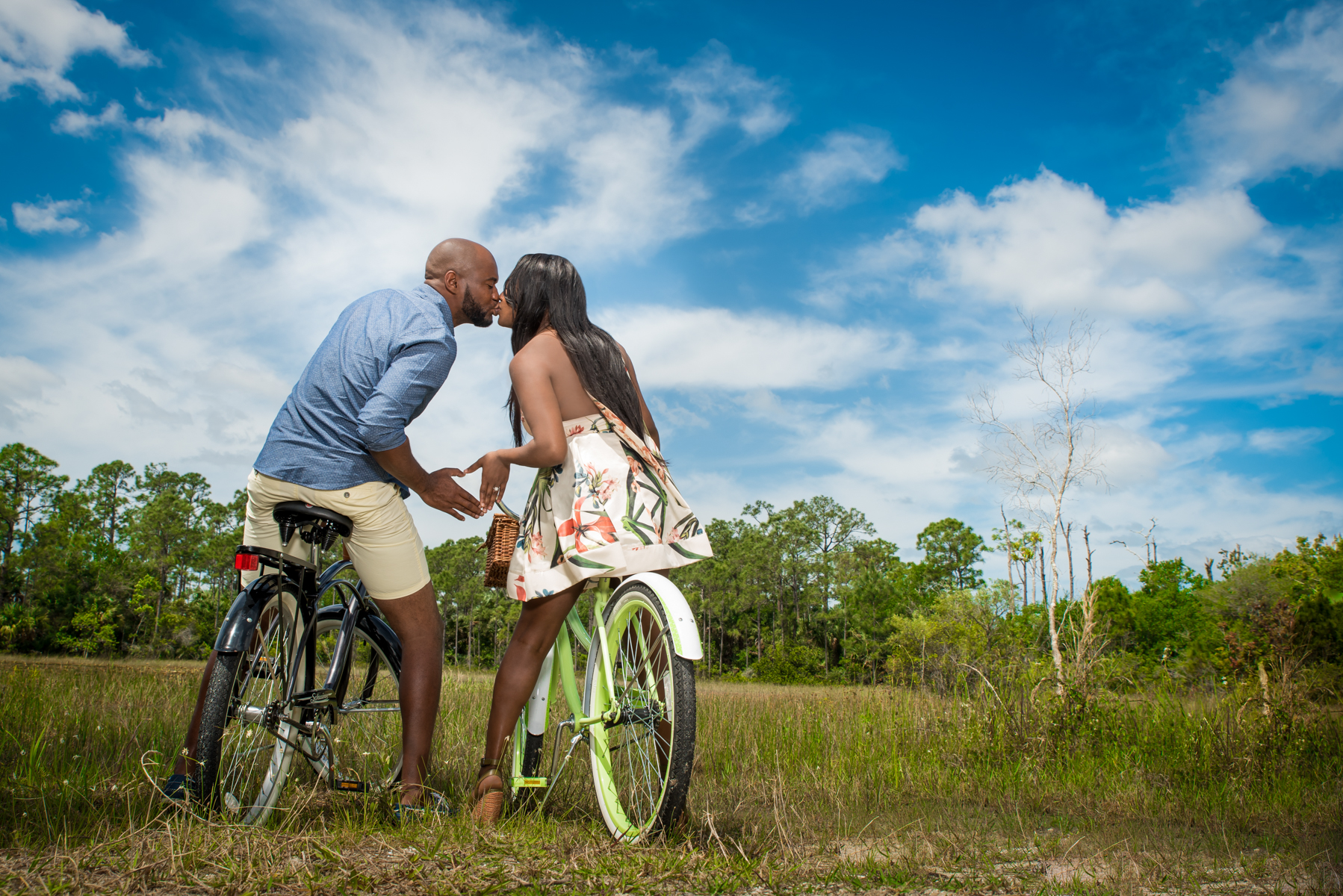 On location photos for couples in South Florida.