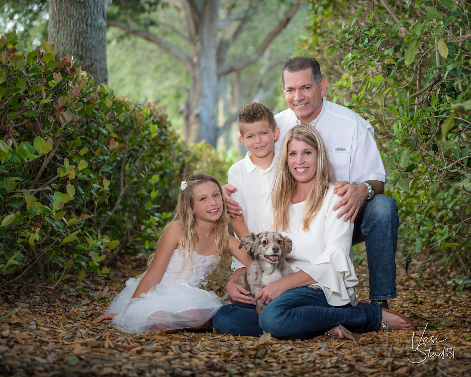 Family, pet, dog portrait in Palm Beach. 561-307-9875